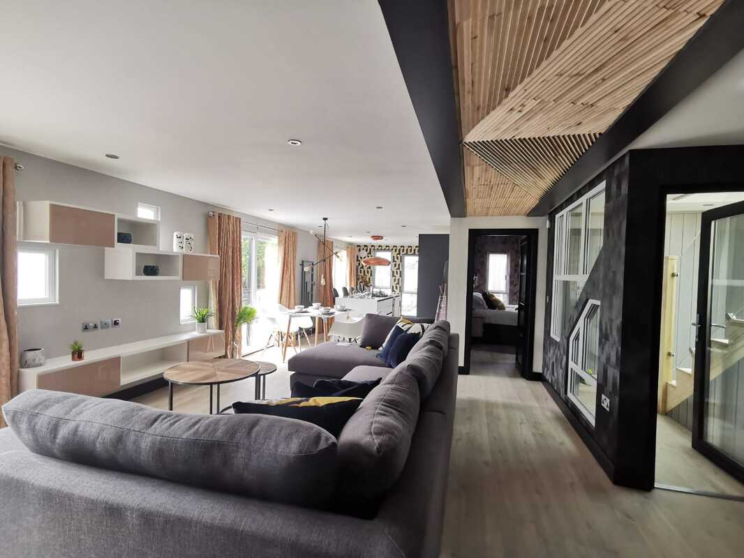 Solid Wood Wall Paneling Audrini Living